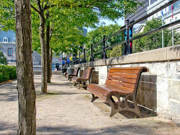 Bench in Old Montréal